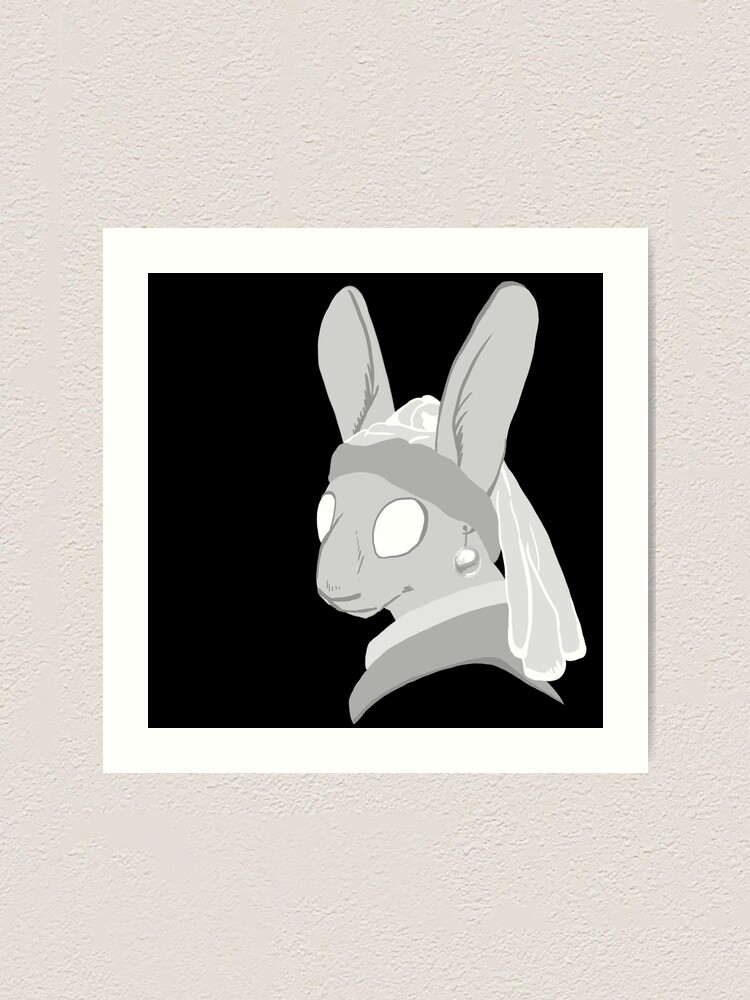 Alternate view of Bunny with a Pearl Earring Art Print