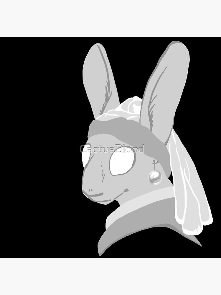 Bunny with a Pearl Earring by CactusBlood