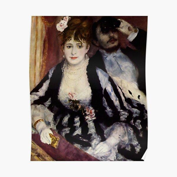 The Theatre Box -  La Loge Oil Painting by Auguste Renoir Poster