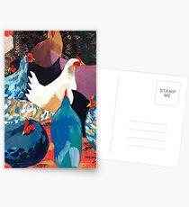 Barnyard Chickens Postcards