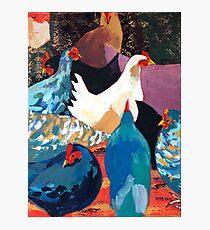Barnyard Chickens Photographic Print