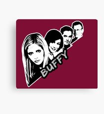Scooby Gang - Grunge [BTVS] Canvas Print