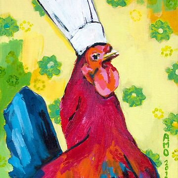 Rooster Chef by AMOpainting