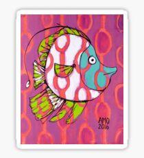 Fun Fish with Pattern Sticker