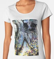 Blue/Yellow/Black Marbling Women's Premium T-Shirt