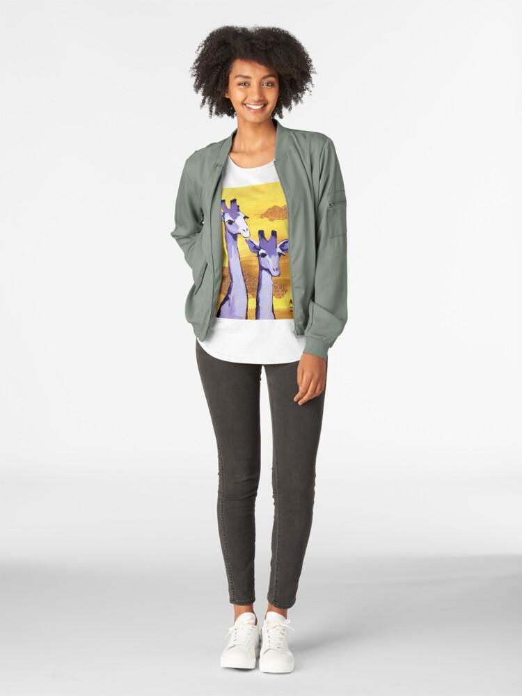 Alternate view of Purple Giraffes Premium Scoop T-Shirt