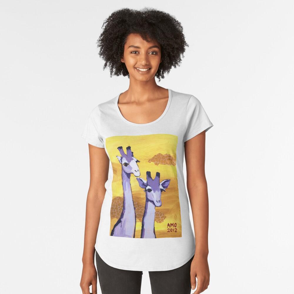 Purple Giraffes Premium Scoop T-Shirt