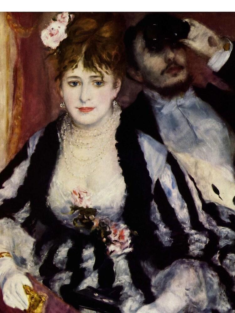 The Theatre Box -  La Loge Oil Painting by Auguste Renoir by podartist