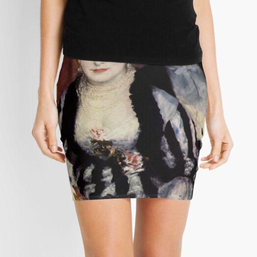 The Theatre Box -  La Loge Oil Painting by Auguste Renoir Mini Skirt