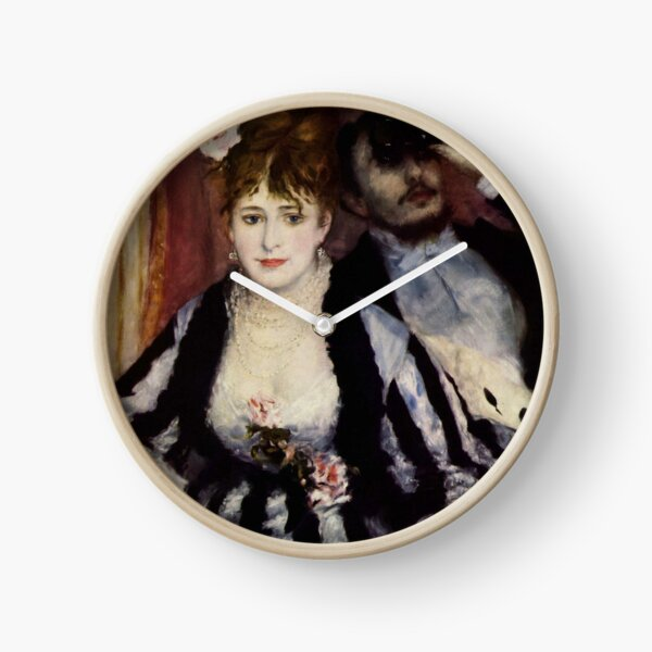 The Theatre Box -  La Loge Oil Painting by Auguste Renoir Clock