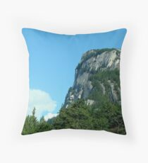"""The Chief"" in Squamish, BC Throw Pillow"