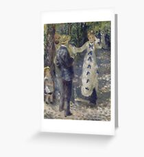 The Swing Oil Painting by Auguste Renoir Greeting Card