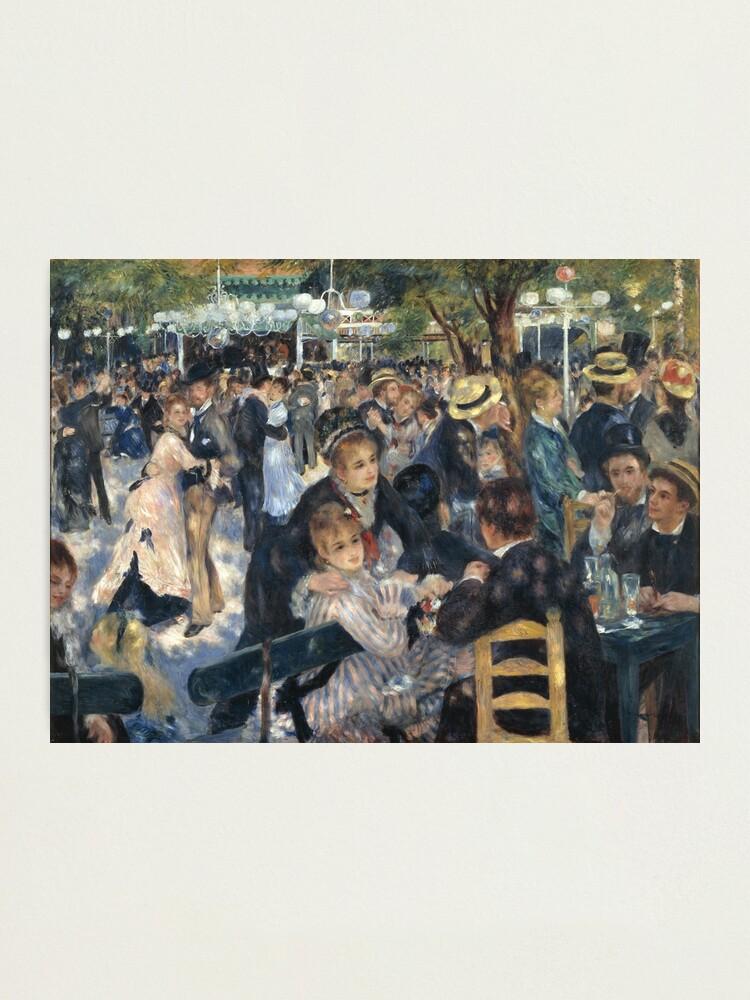 Alternate view of Bal du Moulin de la Galette Oil Painting by Auguste Renoir Photographic Print