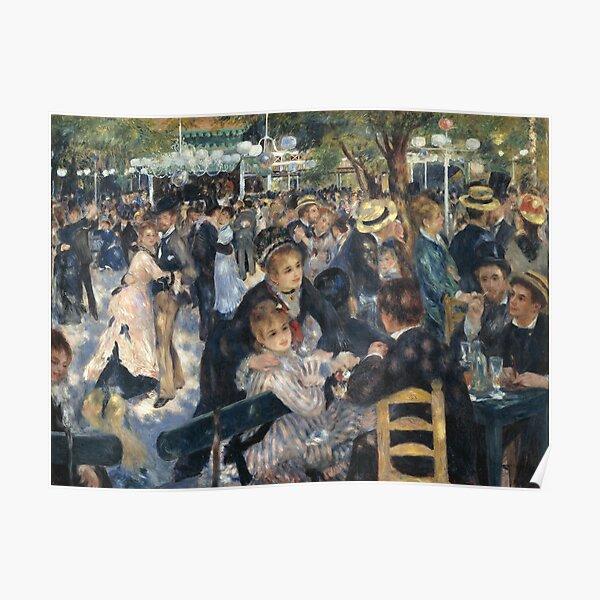 Bal du Moulin de la Galette Oil Painting by Auguste Renoir Poster