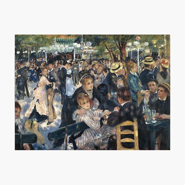 Bal du Moulin de la Galette Oil Painting by Auguste Renoir Photographic Print