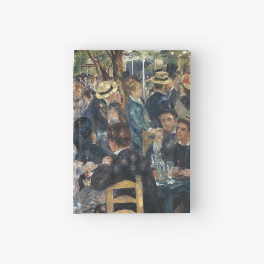 Bal du Moulin de la Galette Oil Painting by Auguste Renoir Hardcover Journal