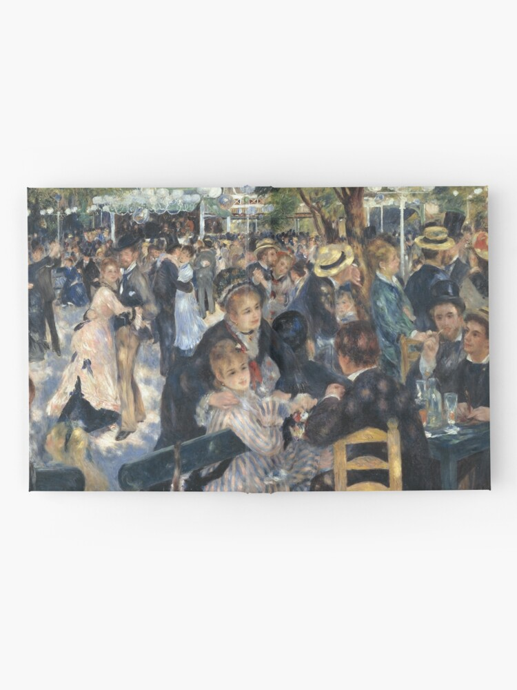 Alternate view of Bal du Moulin de la Galette Oil Painting by Auguste Renoir Hardcover Journal