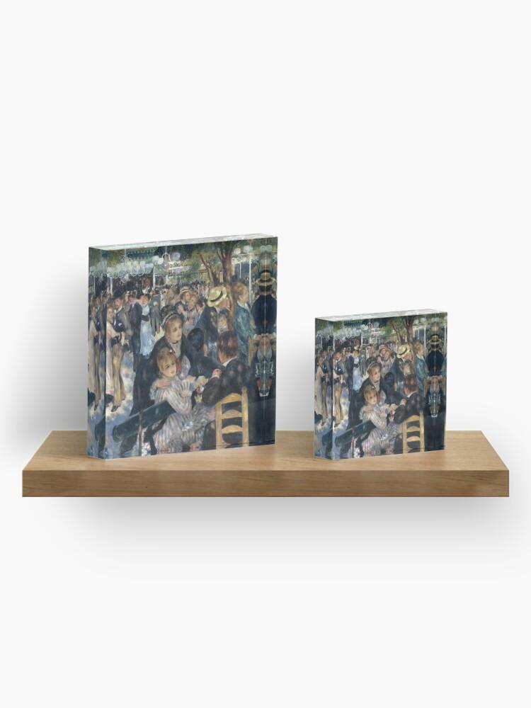 Alternate view of Bal du Moulin de la Galette Oil Painting by Auguste Renoir Acrylic Block