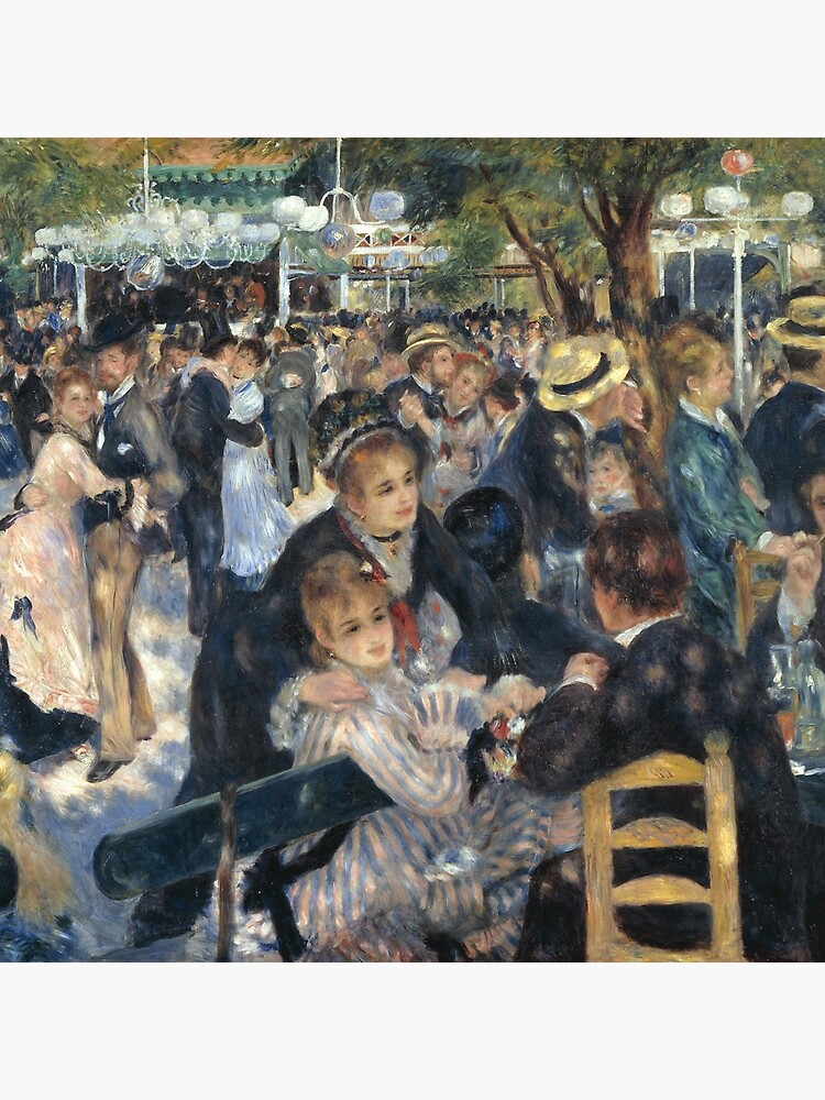 Bal du Moulin de la Galette Oil Painting by Auguste Renoir by podartist
