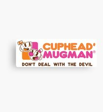 Cuphead Mugman Mashup Canvas Print