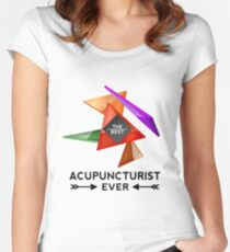 ACUPUNCTURIST - NICE DESIGN FOR YOU Women's Fitted Scoop T-Shirt