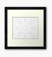 White Snowflake Framed Print
