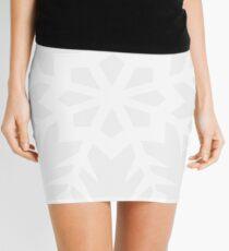 White Snowflake Mini Skirt