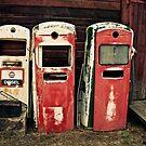 Vintage Gas Pumps by Linda Bianic