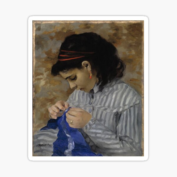 Lise Sewing, 1866, Dallas Museum of Art Sticker