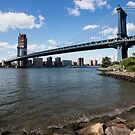 Manhattan Bridge, New York.  by Michael Stocks
