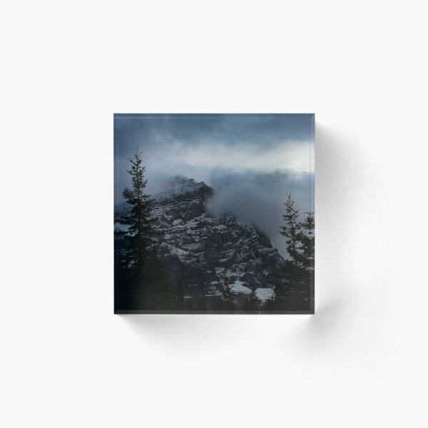 Misty Mountain Acrylic Block