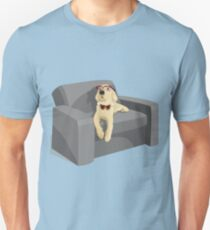 Puppy on couch  T-Shirt