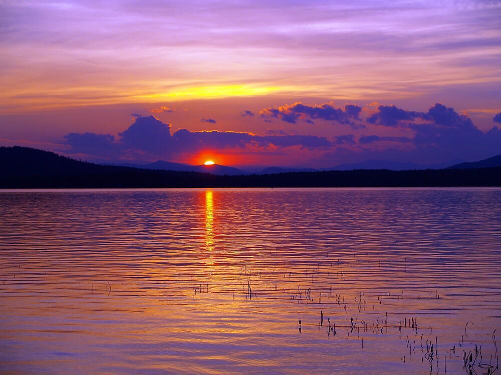 sunset over provence lake nh by edward gaudette