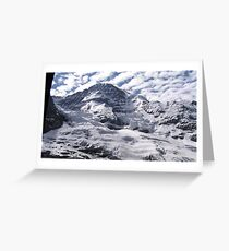 Northern Wall Of The Jungfrau (13,642 ft) Greeting Card