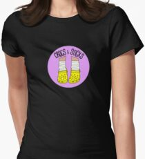 Crocs and Socks Women's Fitted T-Shirt