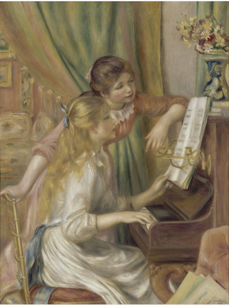 Young Girls at the Piano Oil Painting by Pierre Auguste Renoir by podartist