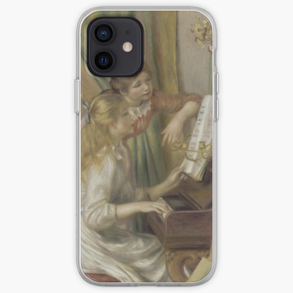 Young Girls at the Piano Oil Painting by Pierre Auguste Renoir iPhone Case & Cover