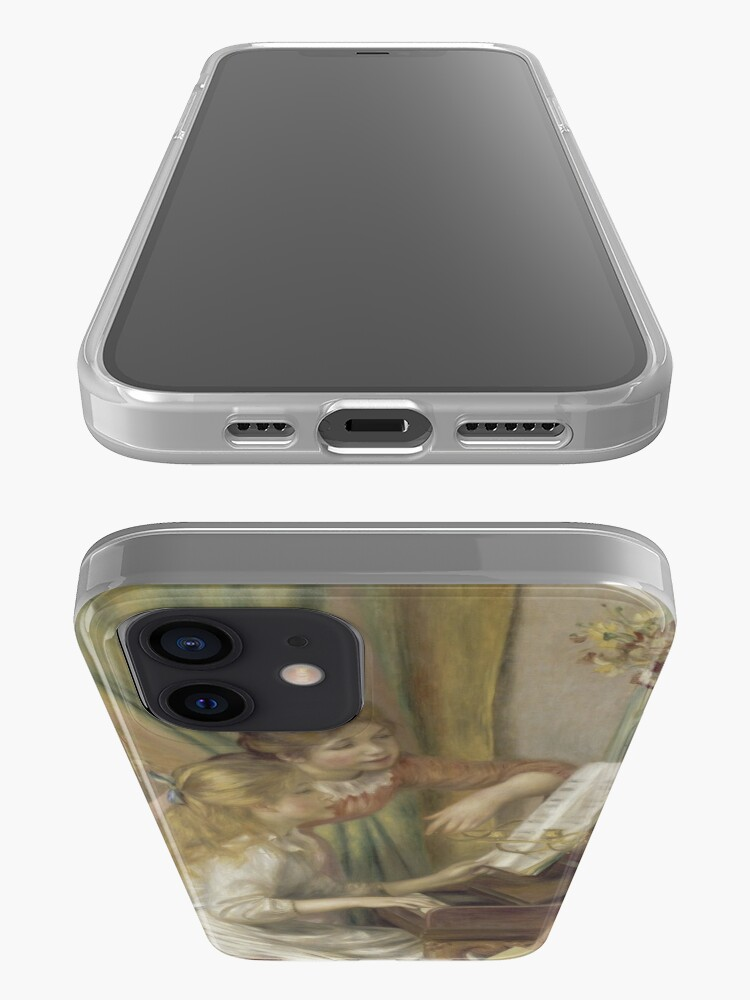 Alternate view of Young Girls at the Piano Oil Painting by Pierre Auguste Renoir iPhone Case & Cover