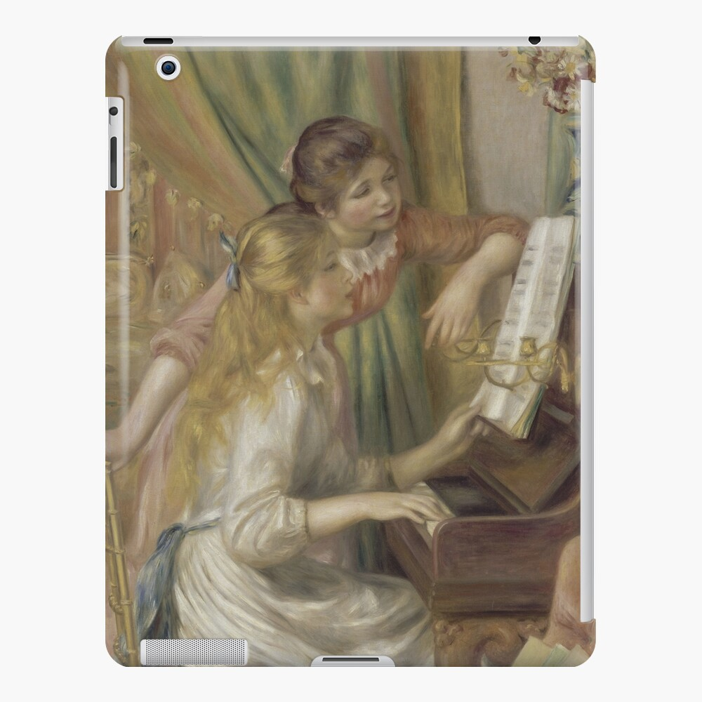 Young Girls at the Piano Oil Painting by Pierre Auguste Renoir iPad Case & Skin