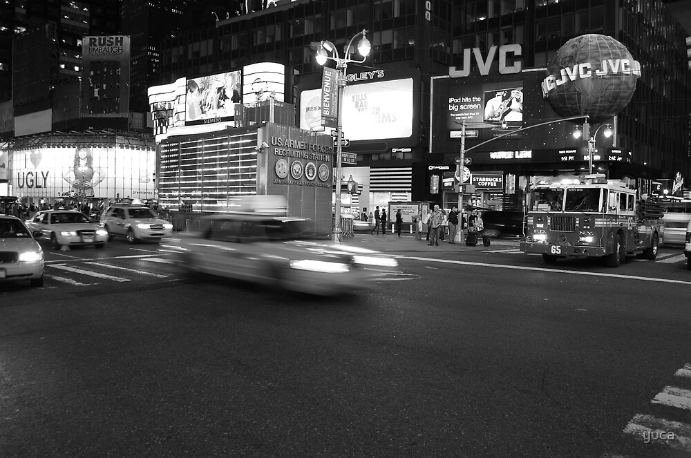 Timesquare black and white by yuca