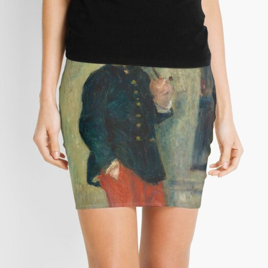 The Young Soldier oil Painting by Auguste Renoir Mini Skirt