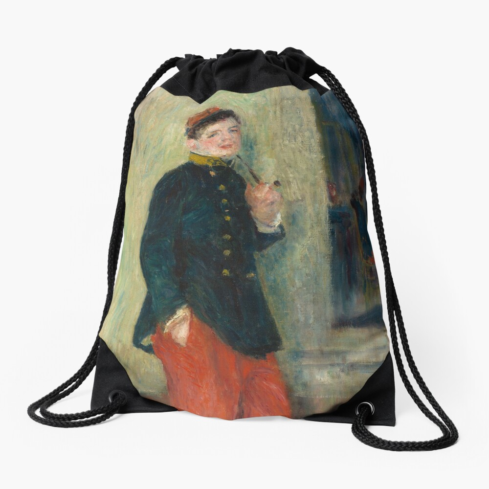 The Young Soldier oil Painting by Auguste Renoir Drawstring Bag