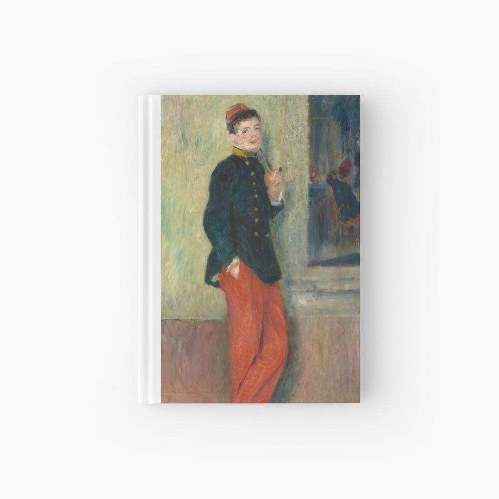 The Young Soldier oil Painting by Auguste Renoir Hardcover Journal