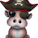 Netter Baby-Flusspferd-Pirat von jeff bartels