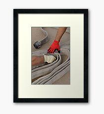 Fire hose inspection Framed Print