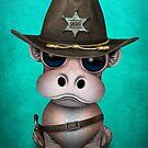 Netter Baby-Flusspferd-Sheriff von jeff bartels