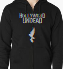 Hollywood Glitched Zipped Hoodie