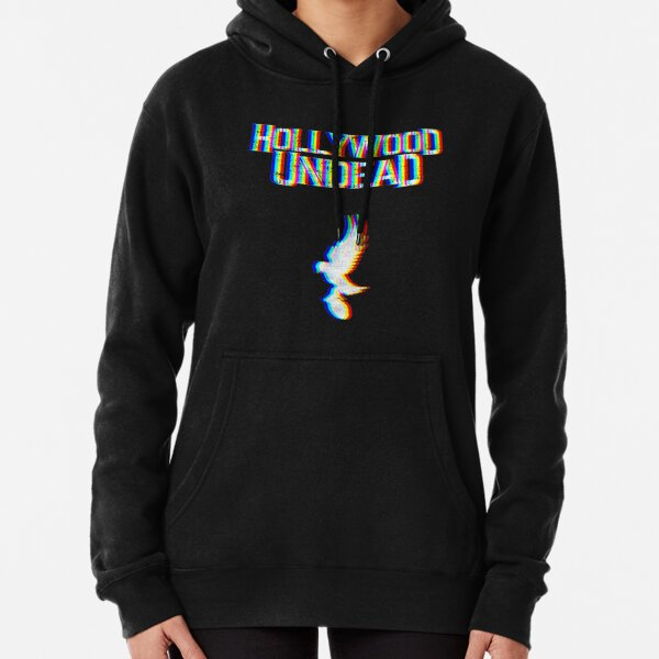 Hollywood Glitched Pullover Hoodie