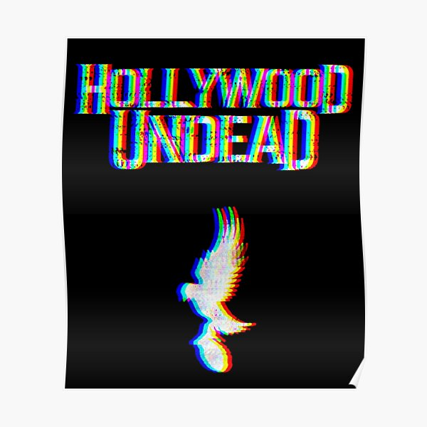 Hollywood Glitched Poster
