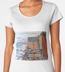 Sandon Point Boat sheds Women's Premium T-Shirt
